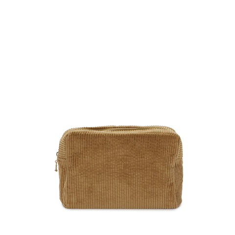 corduroy small pouch, desert sand