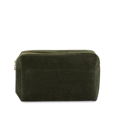 corduroy large pouch, green tea