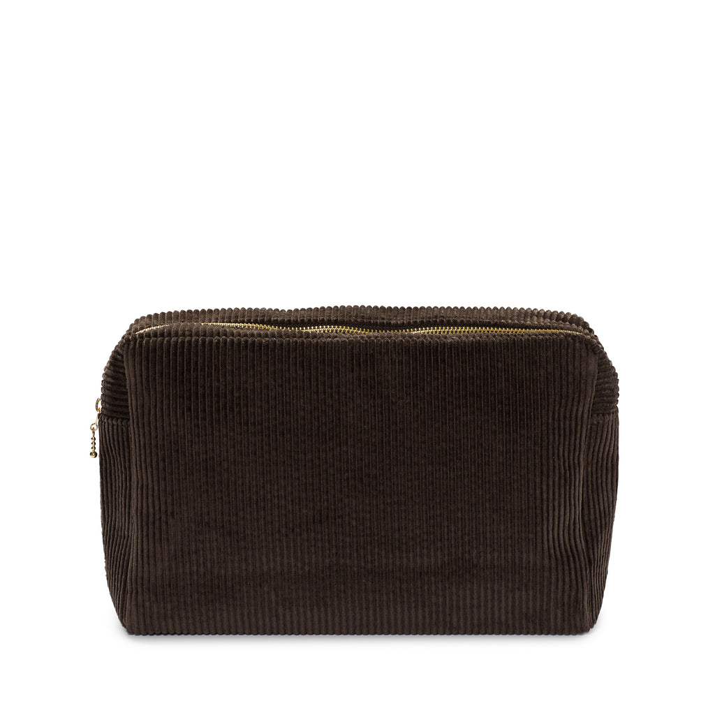 Corduroy large pouch chocolate Nordstjerne