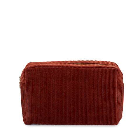 corduroy large pouch, rust