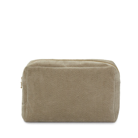 corduroy large pouch, nude grey