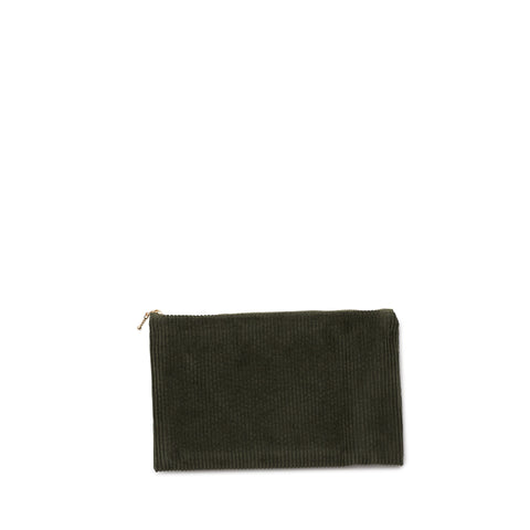 Corduroy clutch green tea Nordstjerne