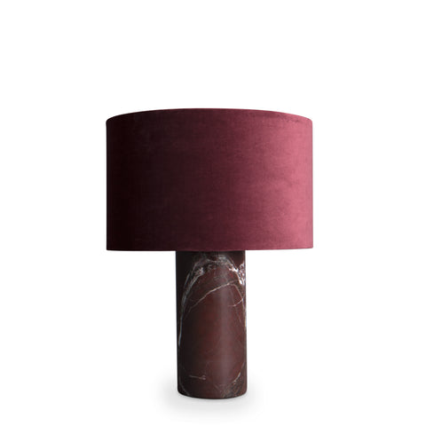statement lamp, burgundy