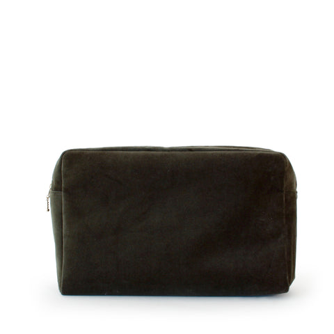 velvet large pouch, green tea
