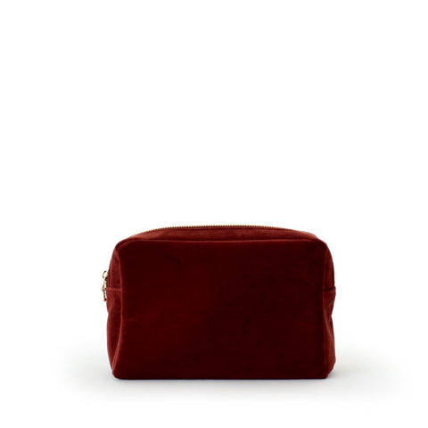 velvet small pouch, rust