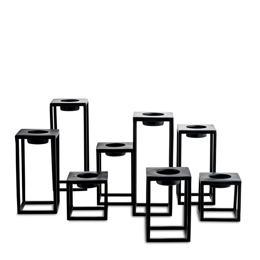 nordstjerne black t-light holders
