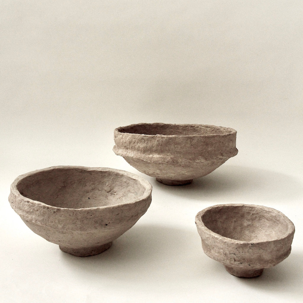 SUSTAIN Sculptural Bowl, large sand