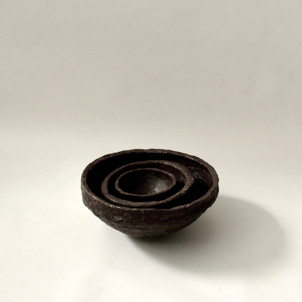 SUSTAIN Sculptural Bowl, small brown