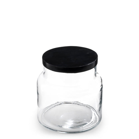 marblelous glass jar small