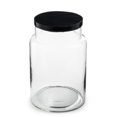 glass jar with soap stone lid