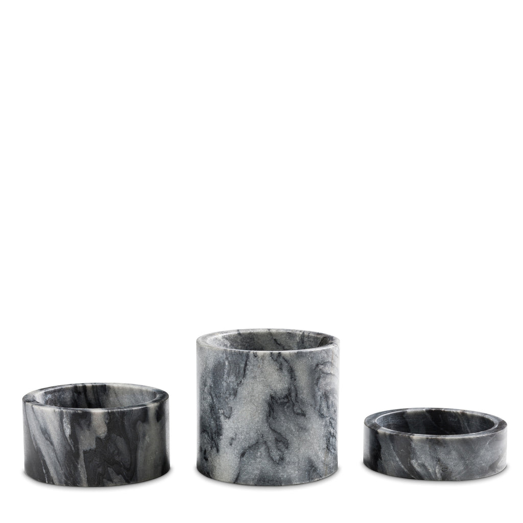 marblelous candleholder large, grey