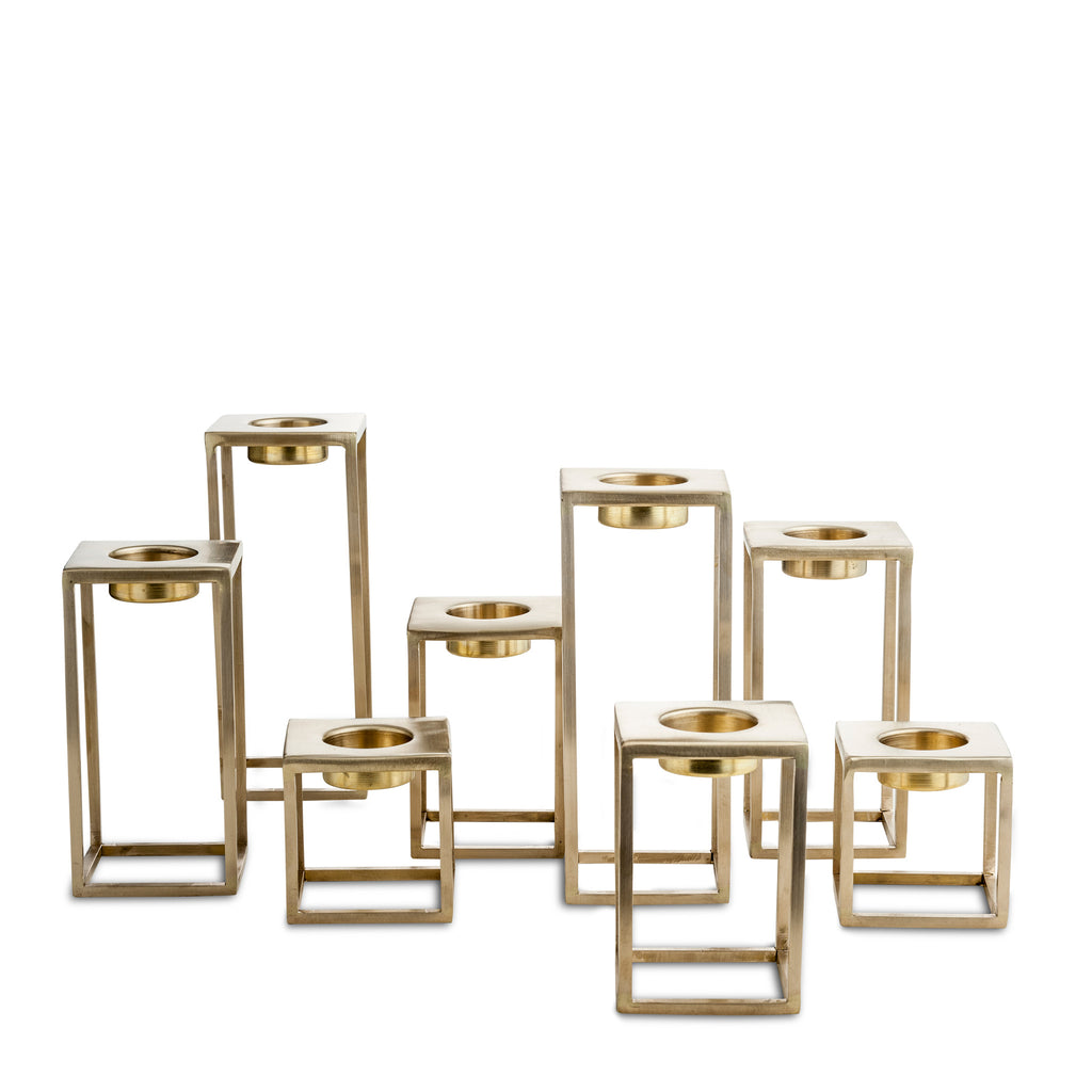 nordstjerne matt brass t-light holders