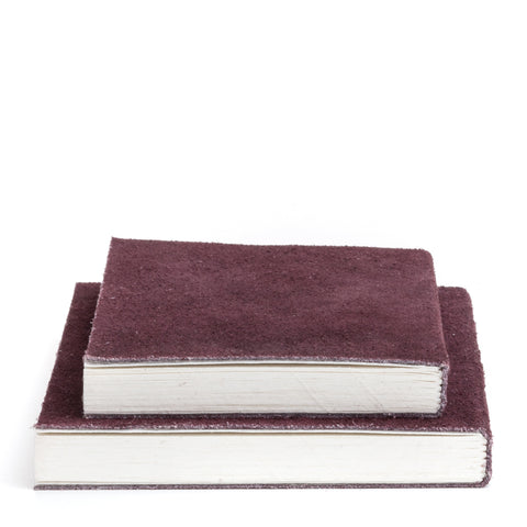 Nordstjerne suede notebook aubergine, medium