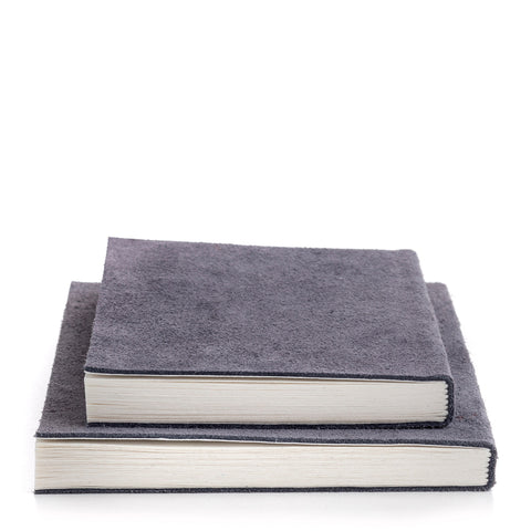 Nordstjerne suede notebook stone grey, small