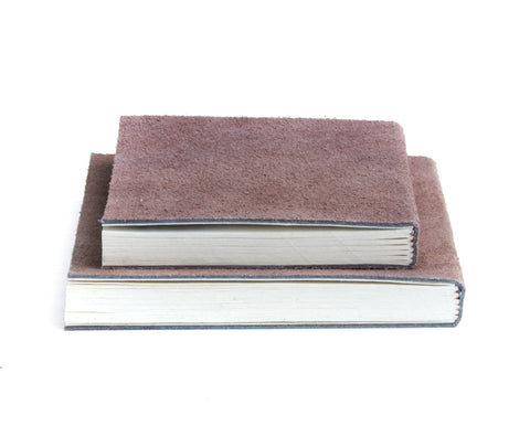 nordstjerne suede notebook pale rosa, medium