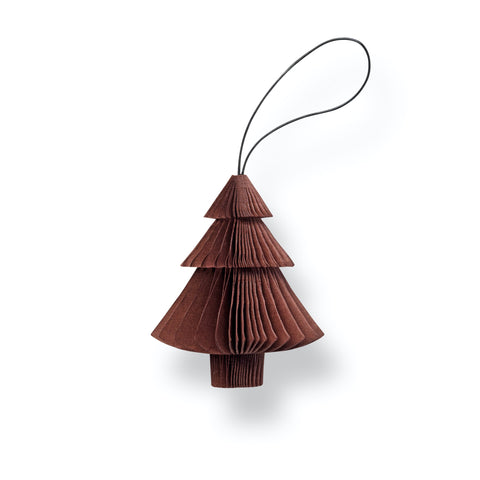 Nordstjerne Sustain Folded Ornament Tree, Dark Red