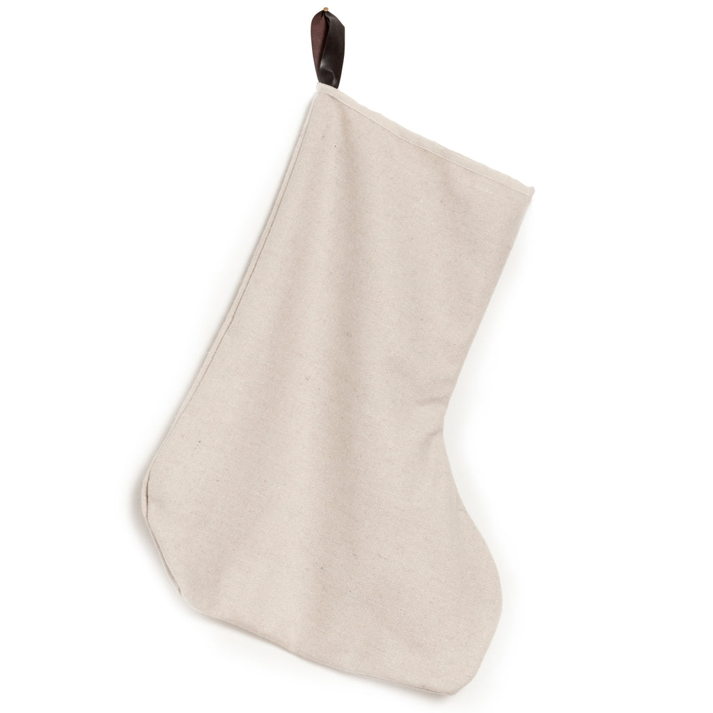 christmas stocking, off white