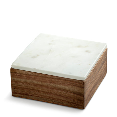 marblelous wooden box small, white