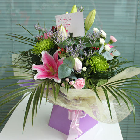 Mother's Day Mixed Boxed Hand-tied Bouquet - XL