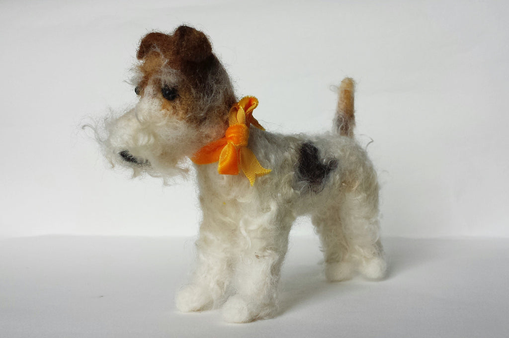 Needle Felted Fox Terrier Dog