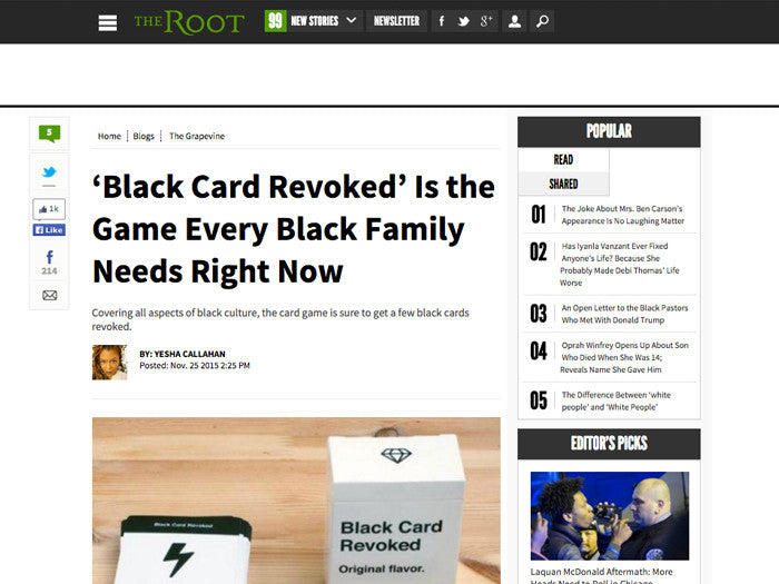Black Card Revoked First Edition Cards For All People