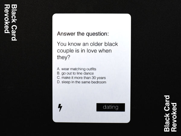 Black Card Revoked - Fifth Edition