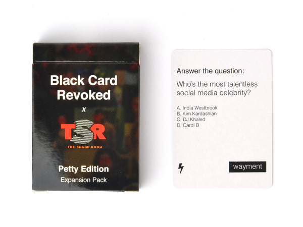 Black Card Revoked Petty Edition Cards For All People