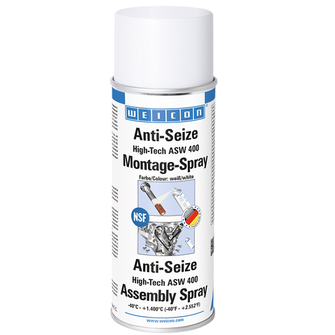 "WEICON Anti-Seize NSF ""High-Tech"" Montage Spray ASW 400 (Metal-Fri)"