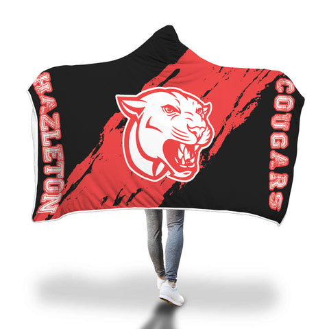 Hazleton Cougars Hooded Blanket - Design 1
