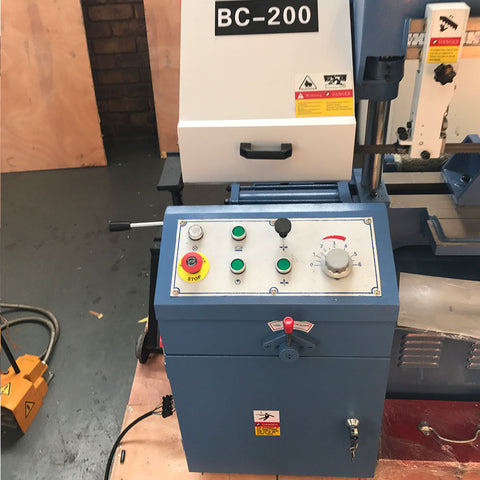 Sierra Machine Tools BC-200 Column Type Semi-auto bandsaw control