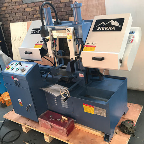 Sierra Machine Tools BC-200 Column Type Semi-auto bandsaw side