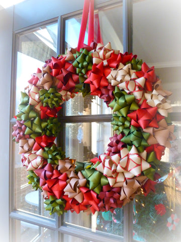 christmas decor bow wreath