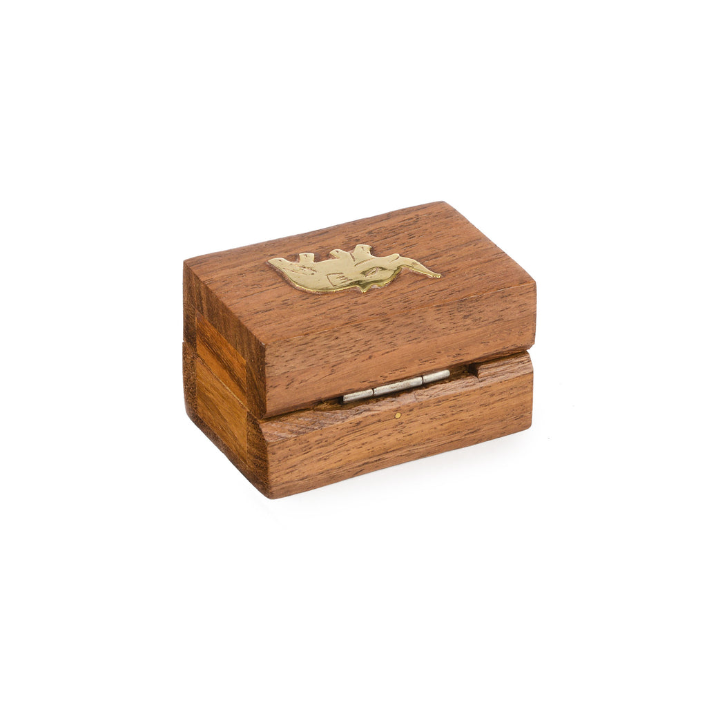 Rusticity Wood Jewelry Box Decorative | Handmade | (2.25x1.5 in)