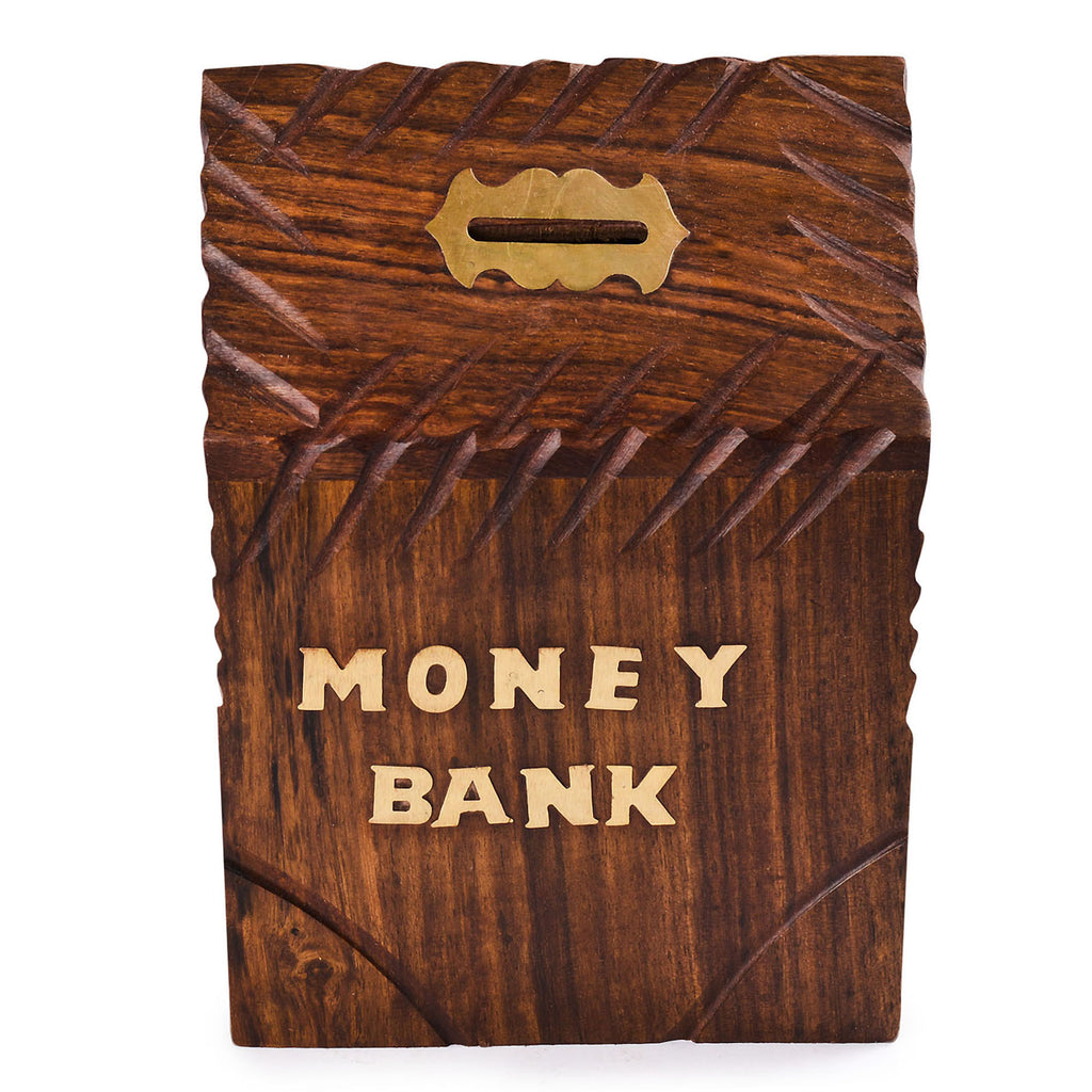 Rusticity Wood Piggy Bank for Kids and Adults - Hut design | Handmade | (6x4 in)
