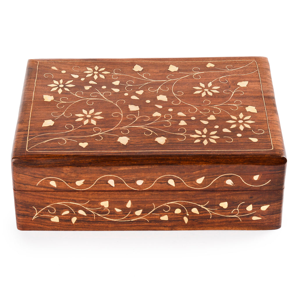 Rusticity Wood Jewelry Box Organizer Decorative | Handmade | (7x5 in)