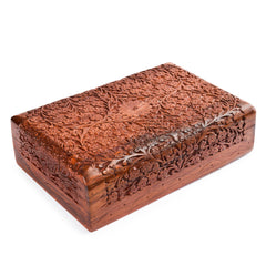 Rusticity Wood Jewelry Box | Handmade | (12x8in)