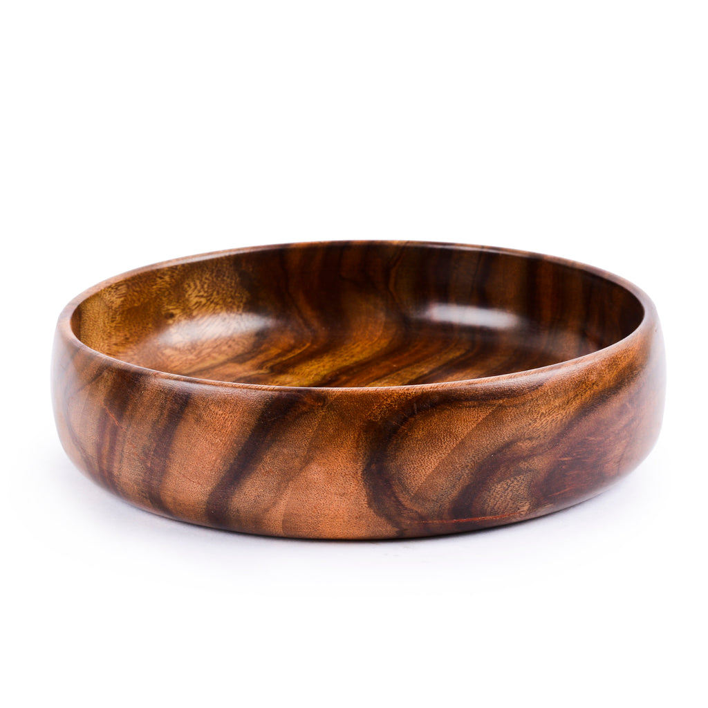 Rusticity Wood Serving Bowl - Medium | Handmade | (8 inch)
