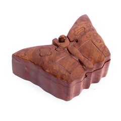 Rusticity Wooden Mysteru Puzzle Box - Butterfly | Handmade | (5.8x3.7 in)