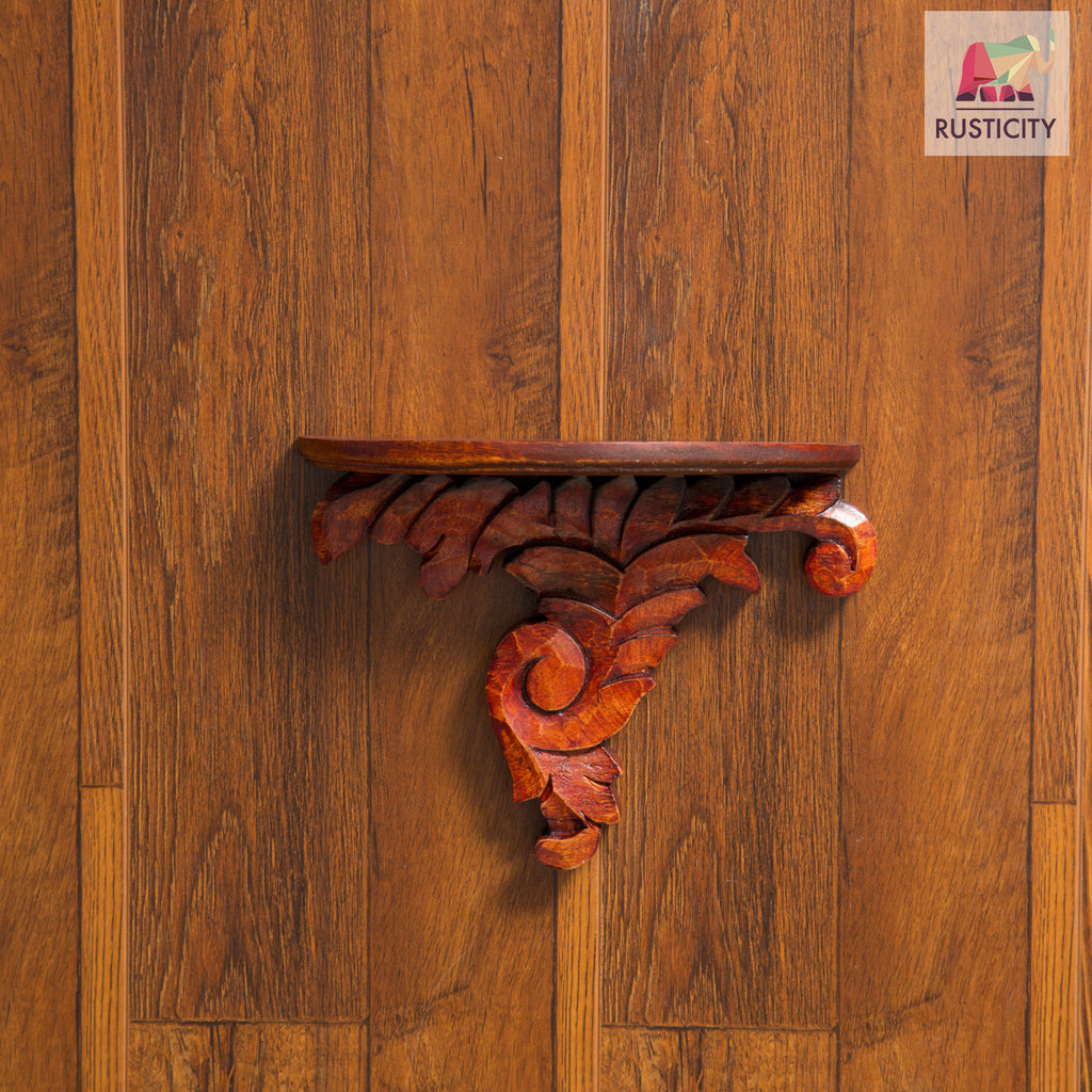 Rusticity Wood Wall Corner Bracket | Handmade | (9in x 6.7in)