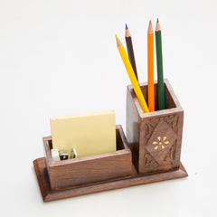 Rusticity Wooden Pen / Pencil Holder and Desk Organizer | Handmade | (7x4.5in)