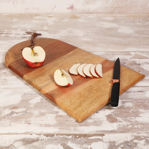 Rusticity Wood Cutting Board, Chopping Board, Serving Tray, Pizza Paddle for Kitchen |Acacia Wood| Handmade | (15.5x10.75x0.75 in)