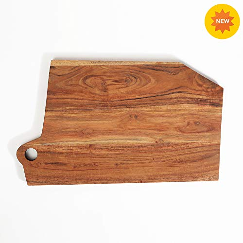 Rusticity Wood Cutting Board, Chopping Board, Serving Tray, Pizza Paddle for Kitchen |Acacia Wood| Handmade | (16x9.5x0.5 in)