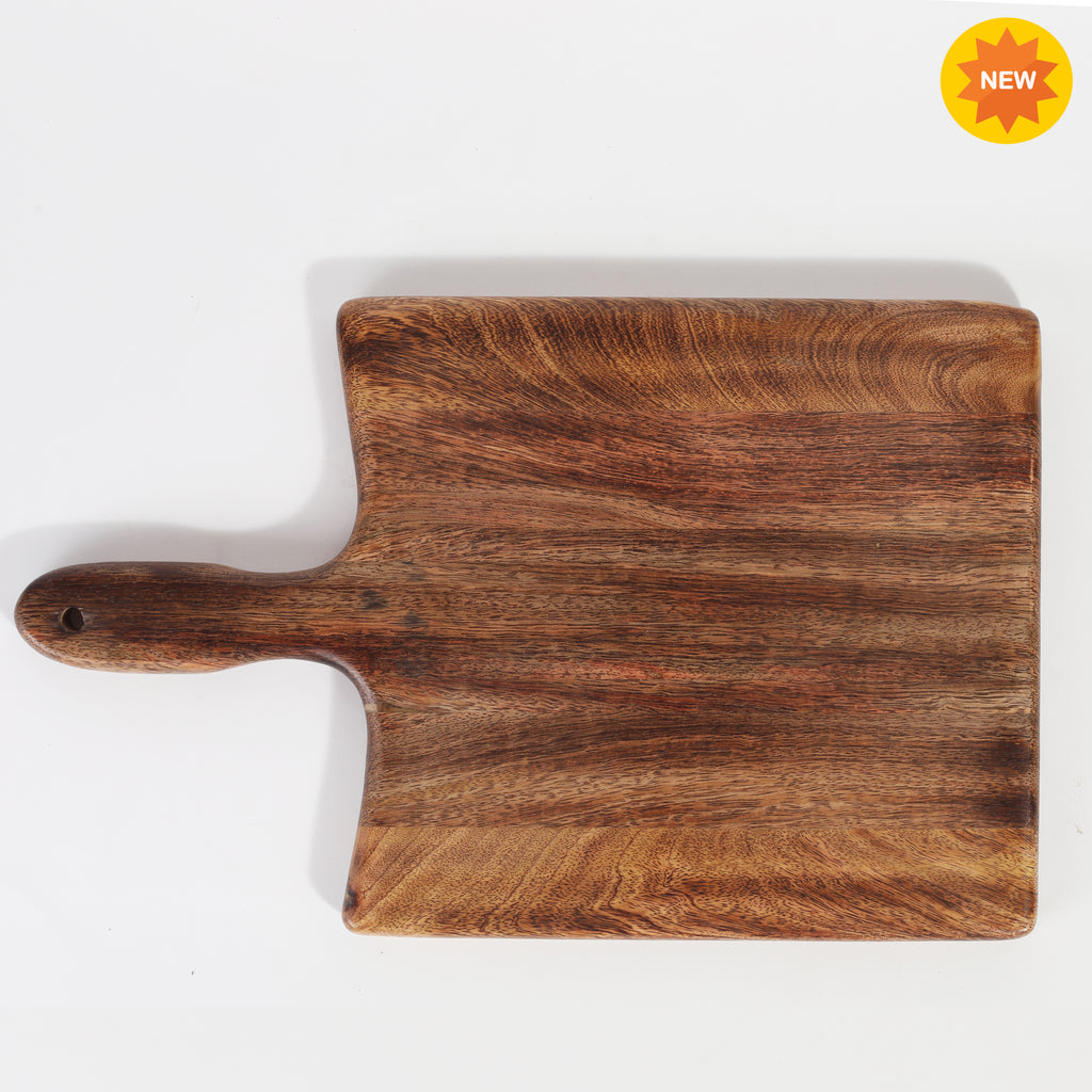 Rusticity® Wood Chopping Board, Cutting Board, Serving Tray, Pizza Paddle for Kitchen |Mango Wood| Handmade | (14.25x9.75x0.5 in)