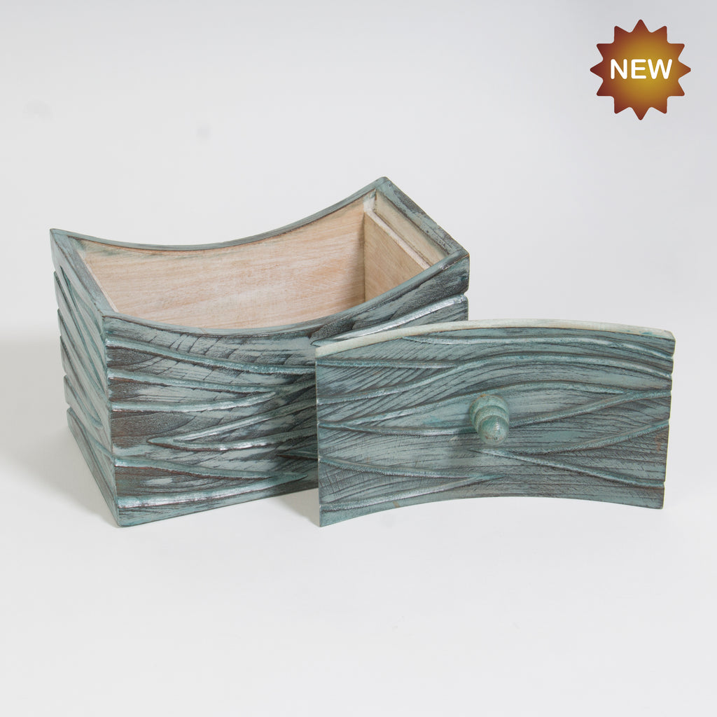 Rusticity® Wooden Jewelry Box Organizer Antiqe Finish | Mango wood| Handmade |(7x4.25x4.25 in)
