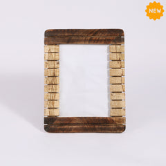 Rusticity® Wooden Photo Frame/Picture Frame - Table Top |Mango Wood| Handmade| (10x8x5 in)