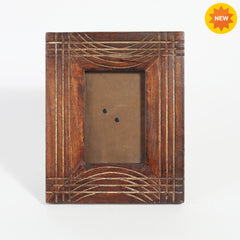 Rusticity® Wooden Photo Frame/Picture Frame - Table Top |Mango Wood| Handmade| (6x4x0.75 in)