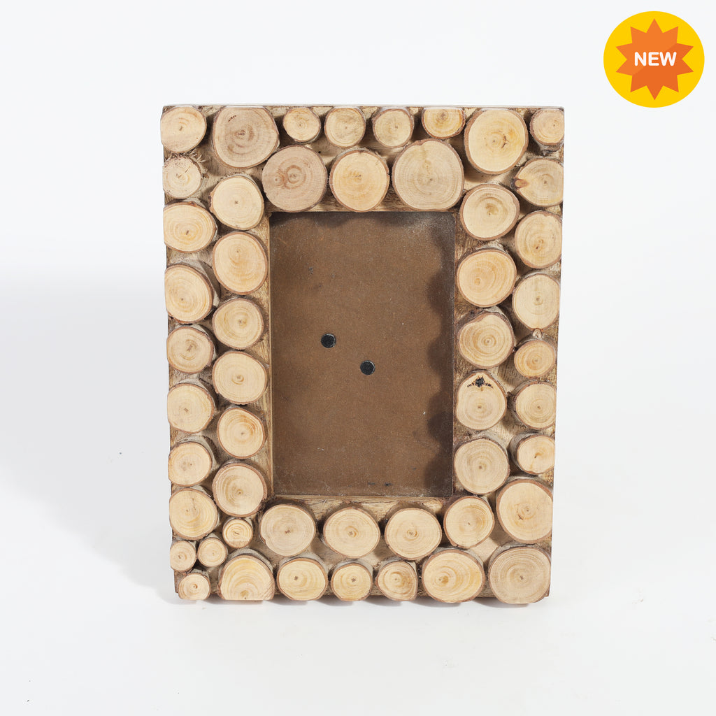 Rusticity® Wooden Photo Frame/Picture Frame - Table Top |Mango Wood| Handmade| (6x4x1 in)
