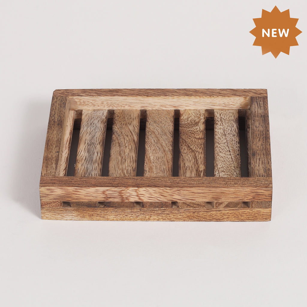 Rusticity Wooden Soap Dish,Soap Holder,  Wooden Dish Holder For Soap | Mango Wood | Handmade |(4.5x3.25x0.75 in)