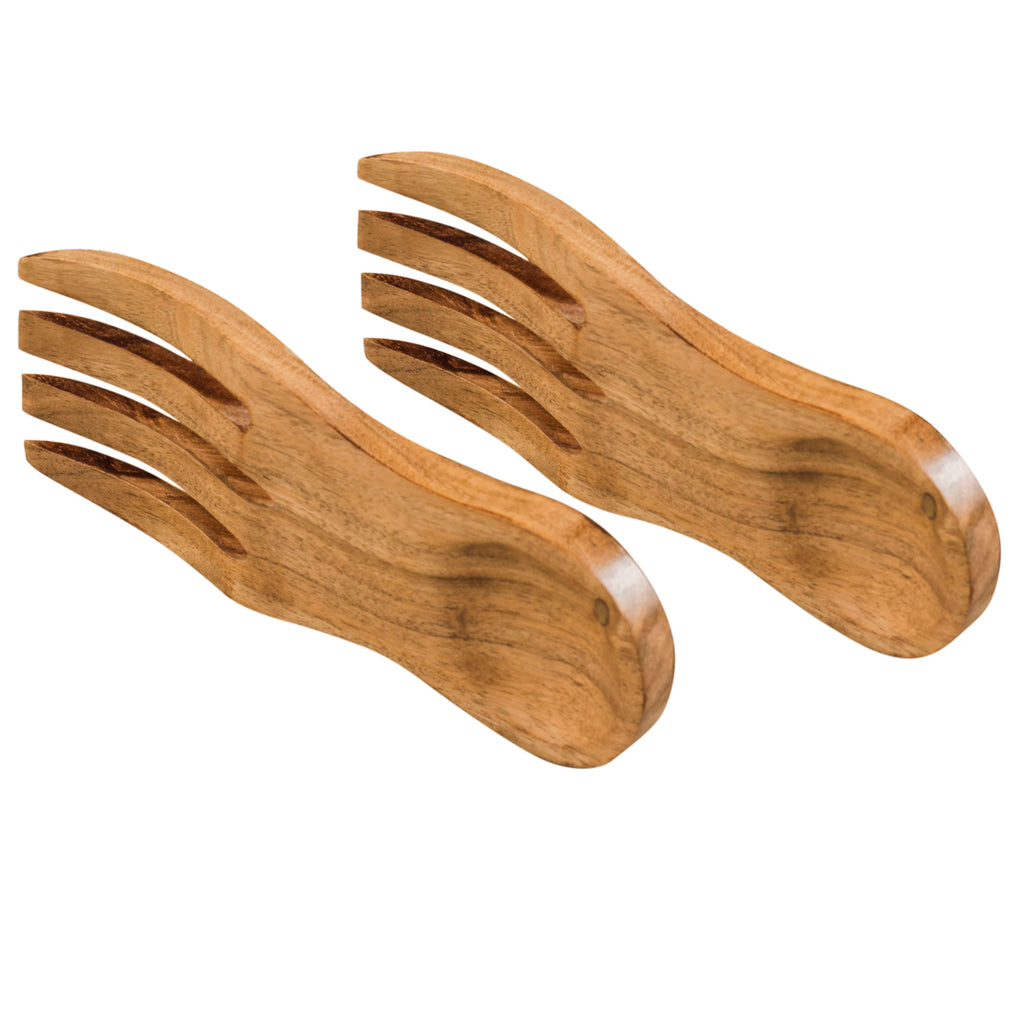 Rusticity Wooden Salad Servers- Beautifully Handcrafted (Set of 2) | Mango Wood | Handmade| (8.3 in)