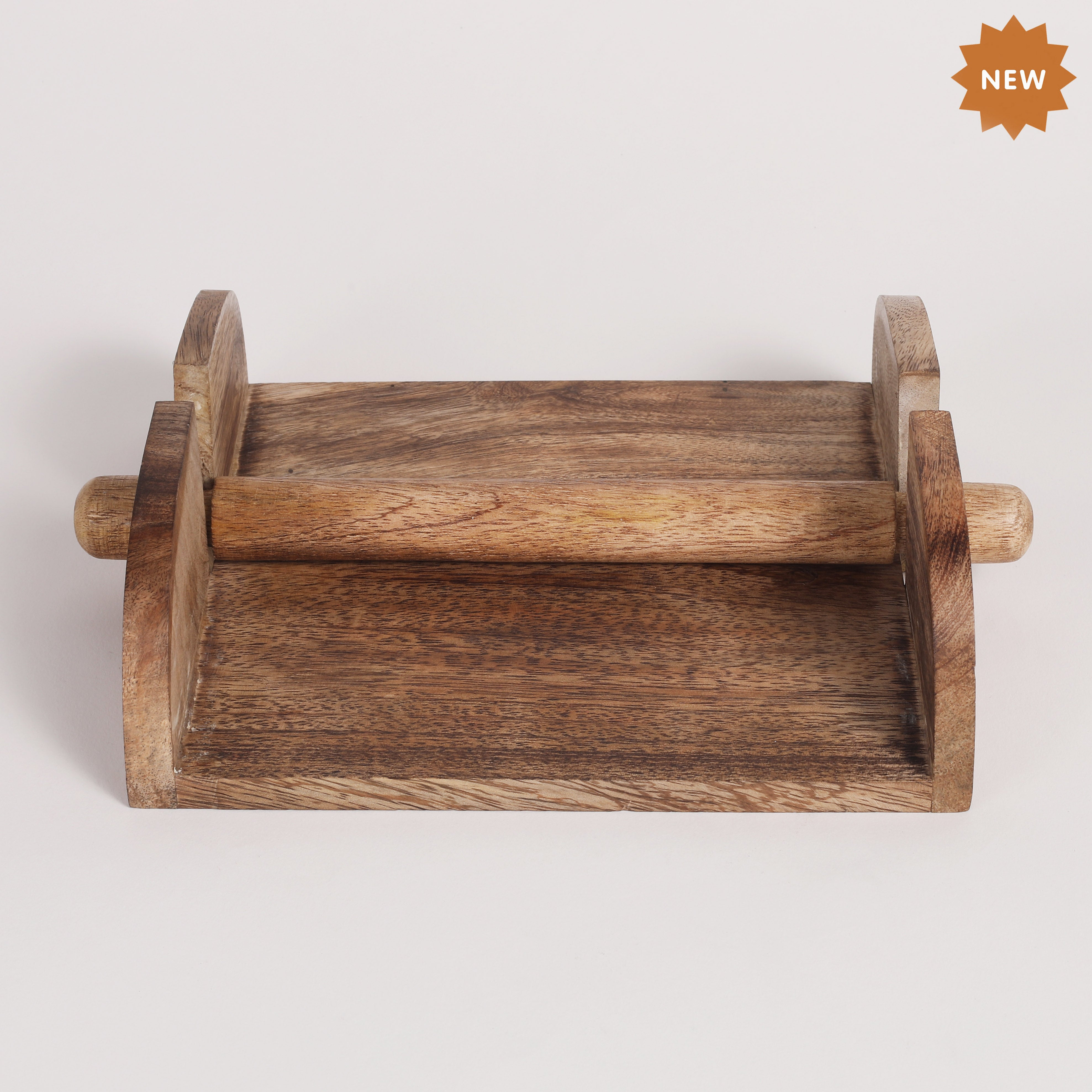 Rusticity Wood Paper Napkin Holder For Napkin And Tissues Mango Wood Rusticity